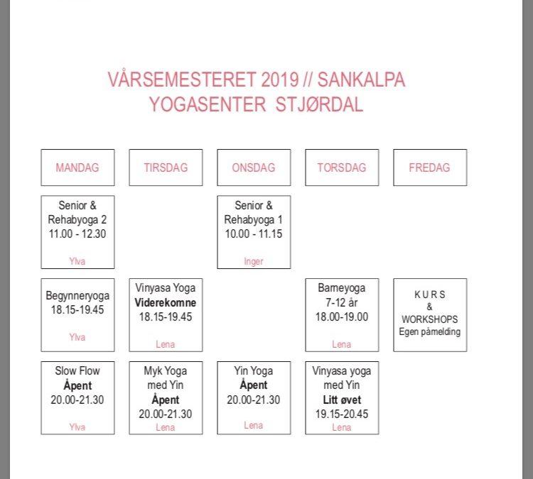 Timeplan Stjørdal Vår 2019